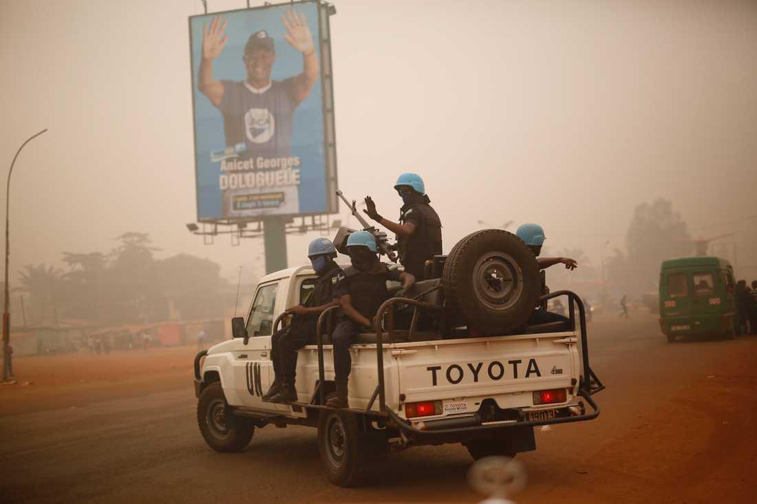 FN-soldater från Rwanda i Centralafrikanska republiken i en bild från 2016.