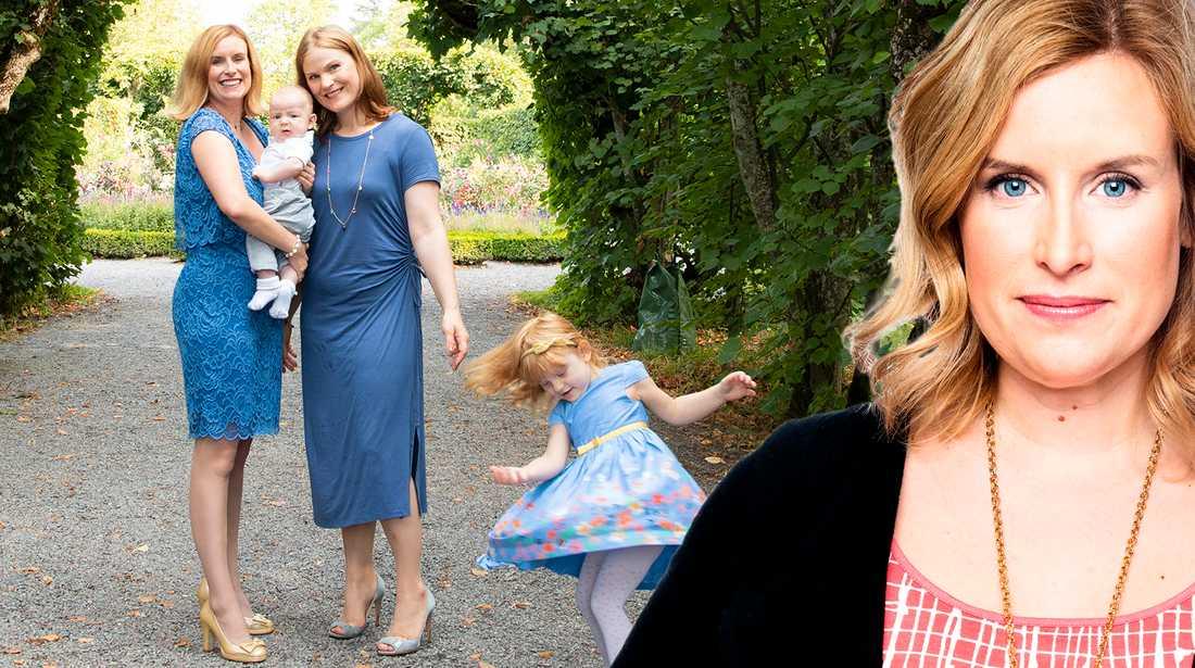 I dag slipper vi leka mamma, pappa, barn, skriver Angelica Öhagen.