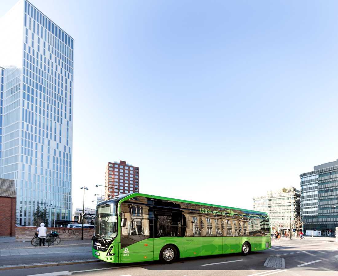 Skånetrafikens nya elbussar