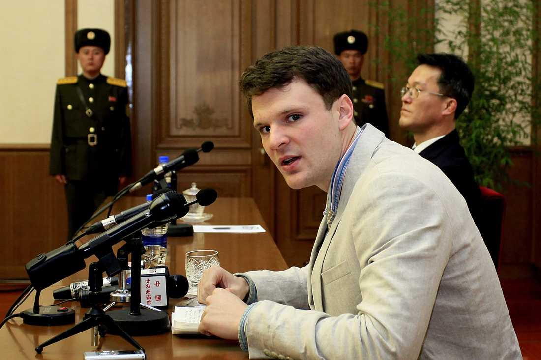 Otto Warmbier satt fängslad i Nordkorea i 17 månader.