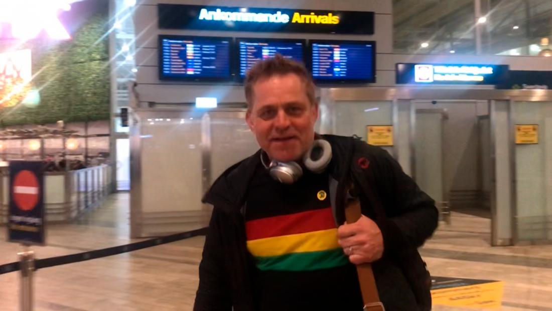 Rickard Olsson anländer till Göteborg med andan i halsen.