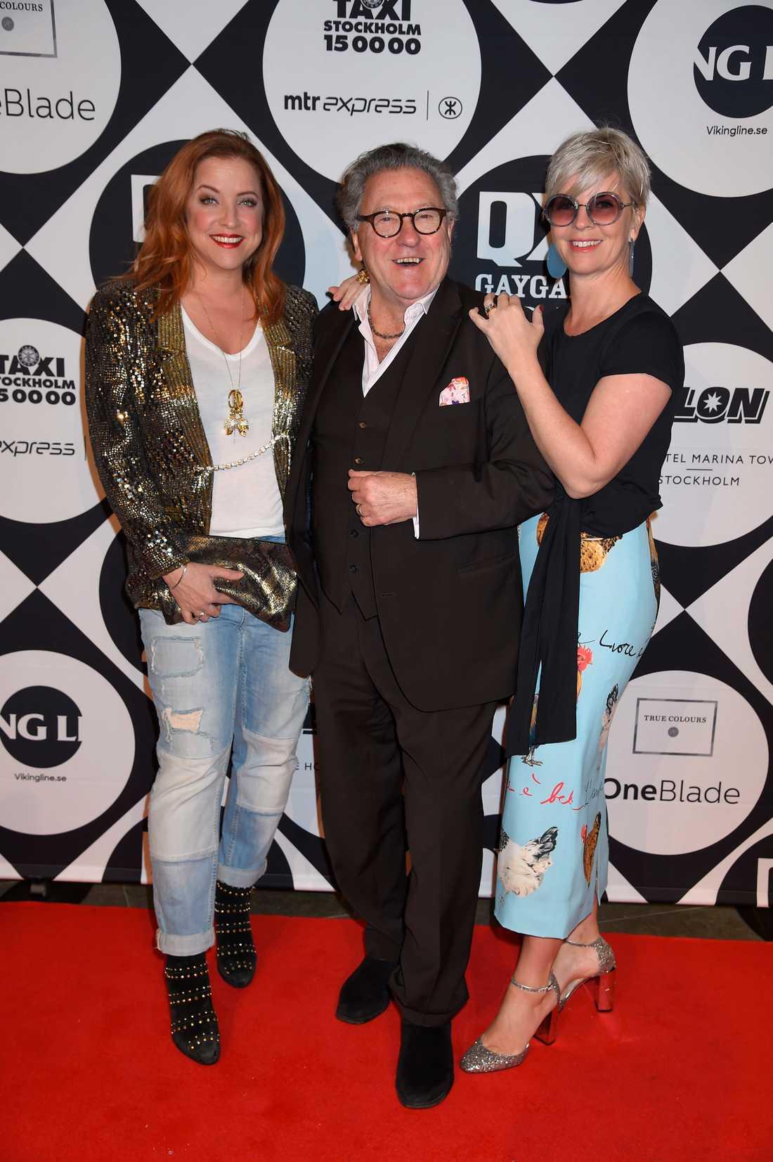 Shirley Clamp, Tommy Körberg och Ann-Charlotte Körberg.
