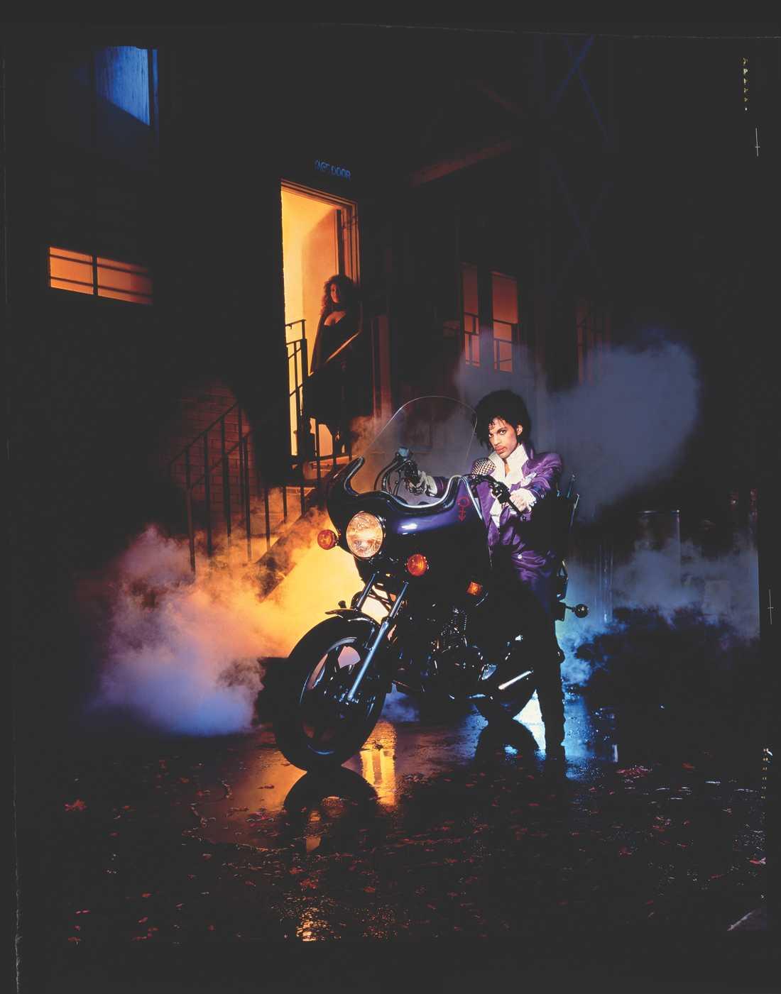 "Bilden som prydde ""Purple rain""-albumet 1984."