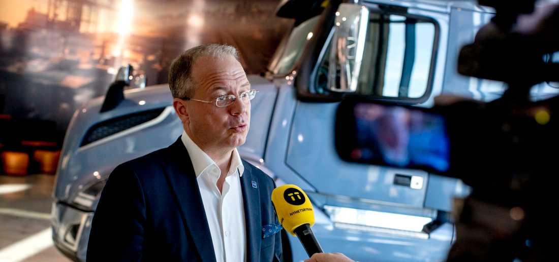 Volvo AB vd Martin Lundsted föreslås få 21 miljoner i bonus för pandemiåret 2020.