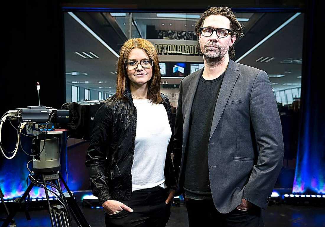 Jessica Linnman och Magnus Zaar är Aftonbladets tvchefer.