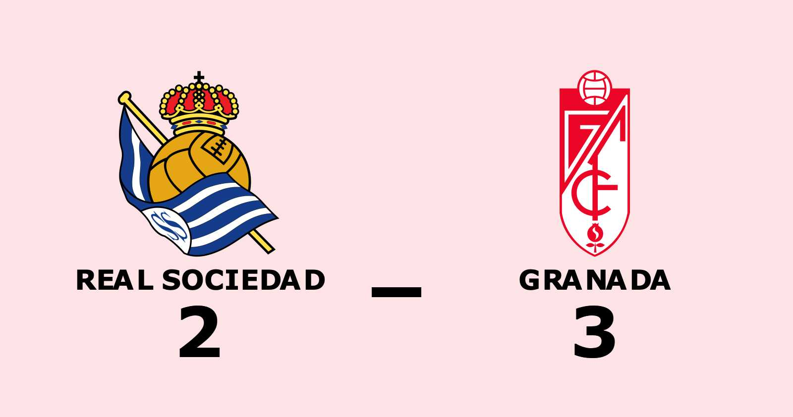 Granada vann trots uppryckning av Real Sociedad