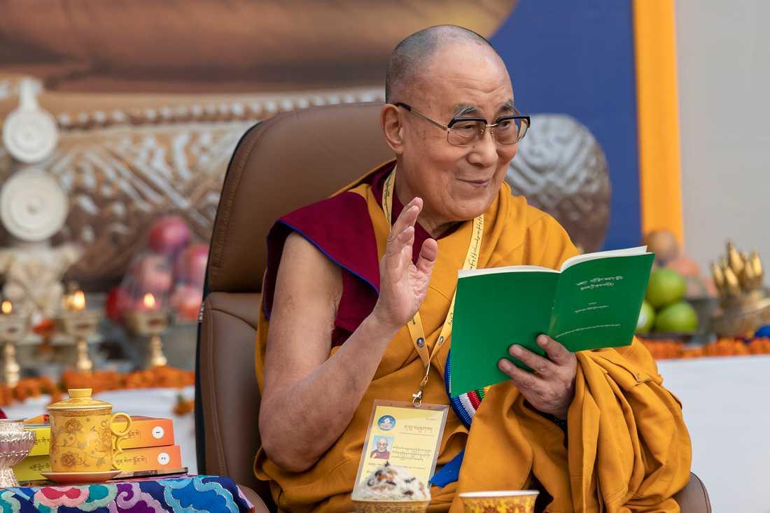 Dalai lama under en ceremoni i Indien i början av december.