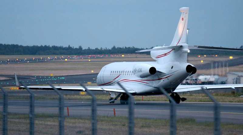 Privatflyg med ASAP Rocky ombord lämnar Arlanda på fredagskvällen.