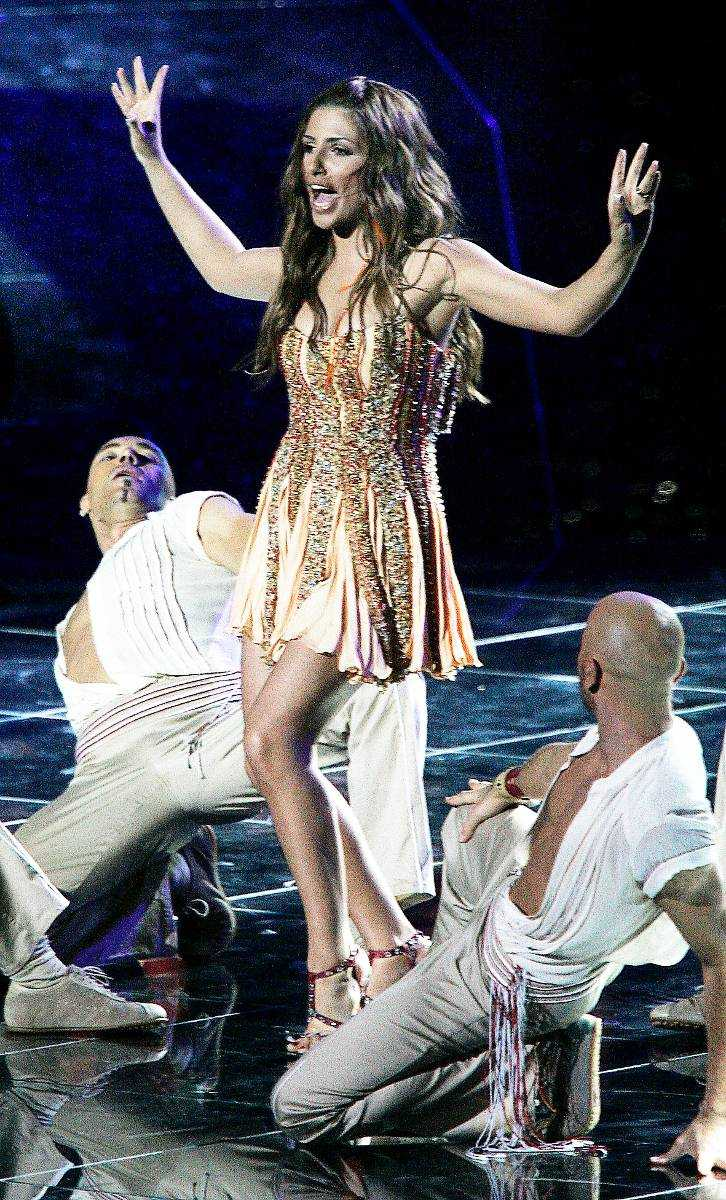 Helena Paparizou när hon vann Eurovision song contest 2005.