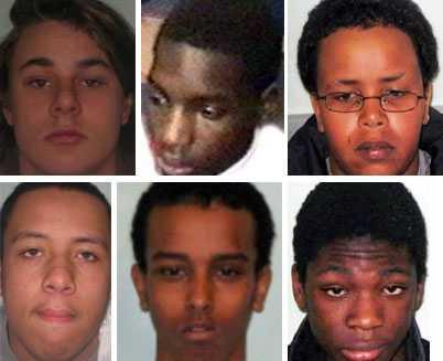 Nio pojkar har dömts till fängelse för den grova gruppvårdtäkten på den då 14-åriga flickan.