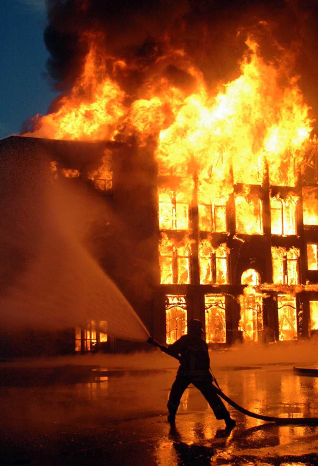 Branden på Universal studios 2008.