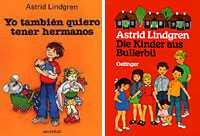 Astrid Lindgrens böcker är populära även i Spanien och Tyskland.