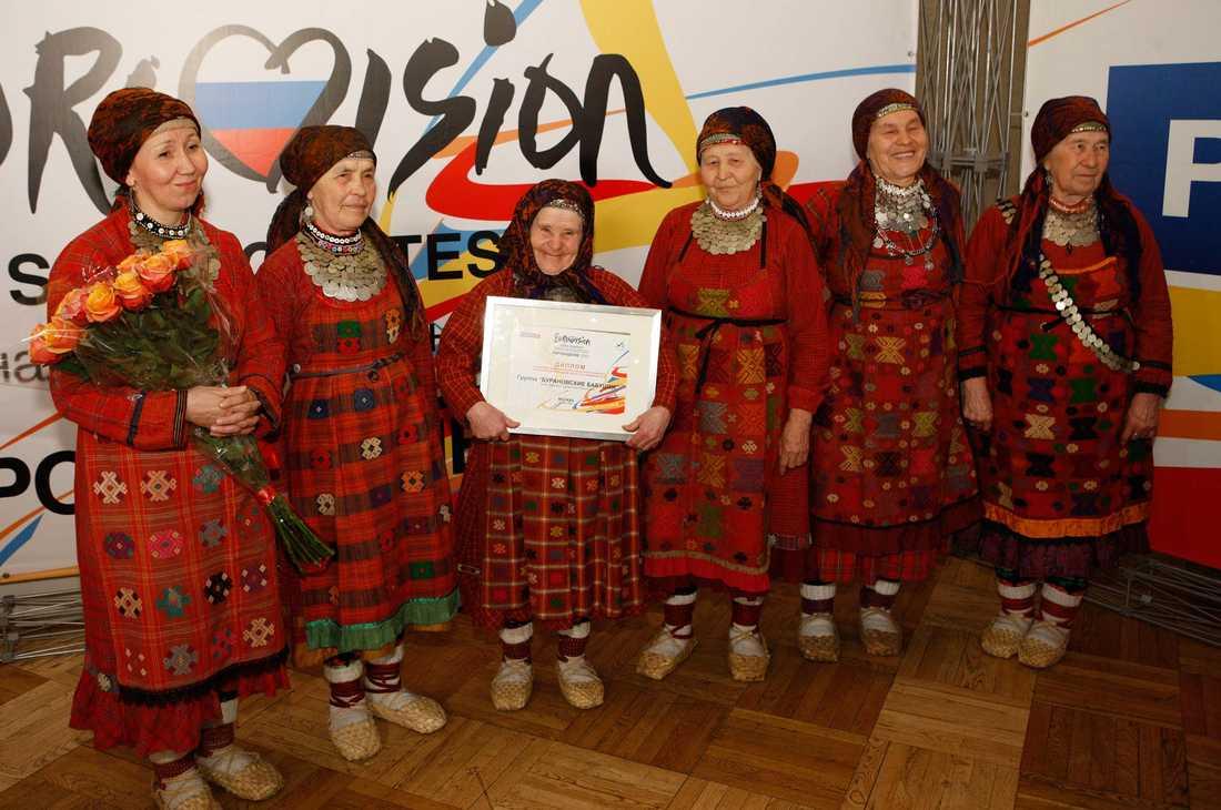 Ska charma hela Europa De gamla gummorna i gruppen Buranovskiye Babushki är det stora hotet mot en svensk seger i Eurovision Song Contest 26 maj enligt spelbolagen.