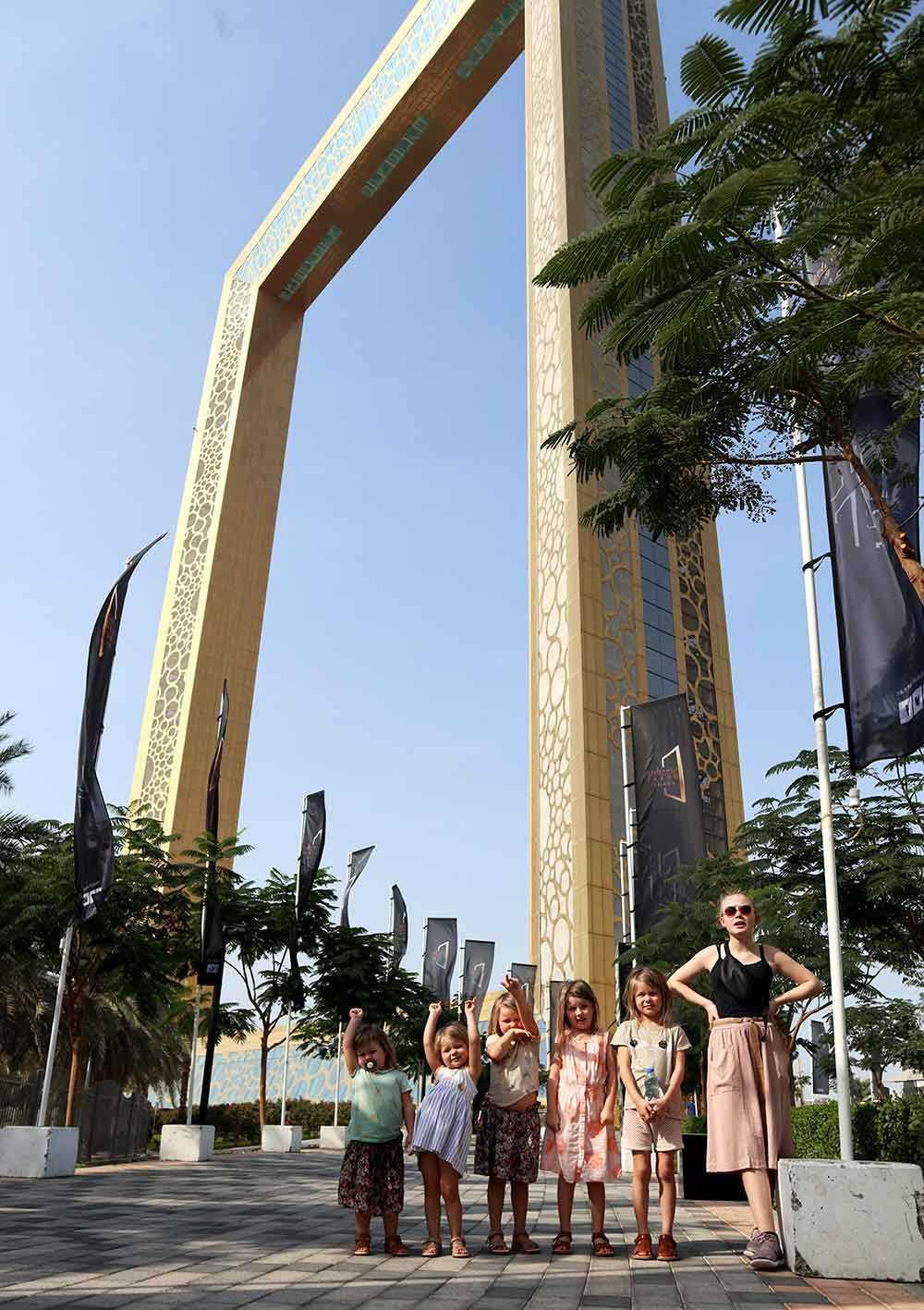 Alla syskonen Holmqvist i Dubai.