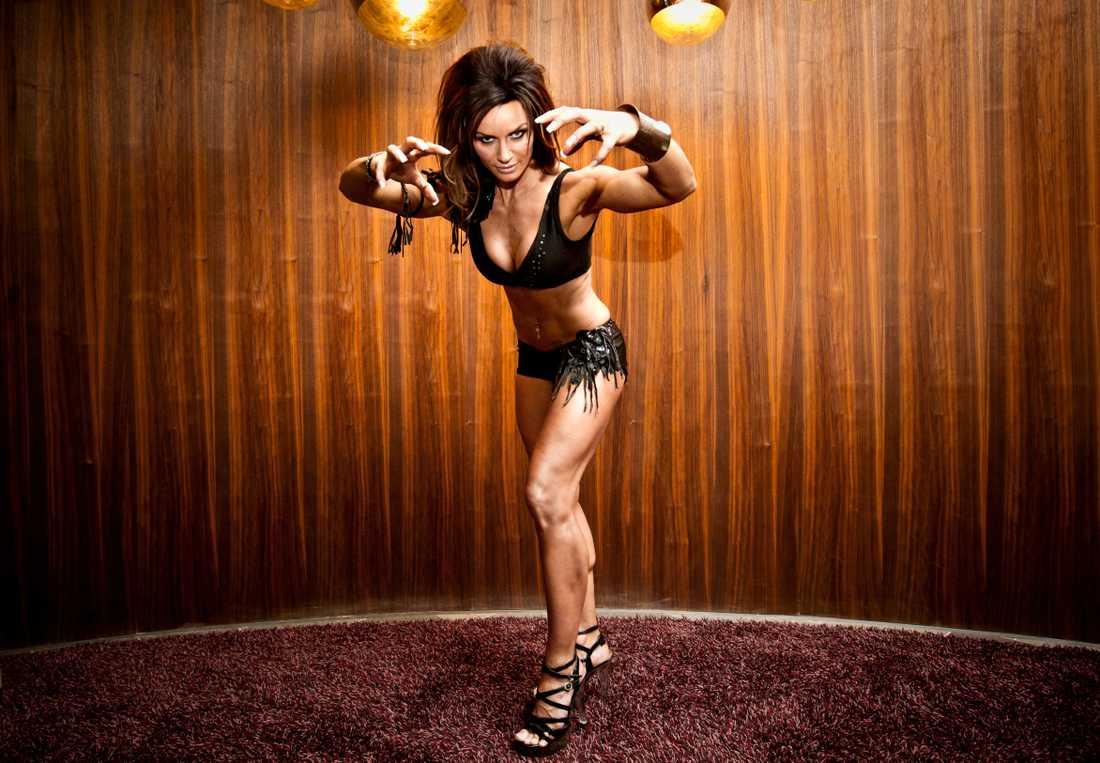 "Cecilia Benjaminson, känd som Amazon i ""Gladiatorerna""."