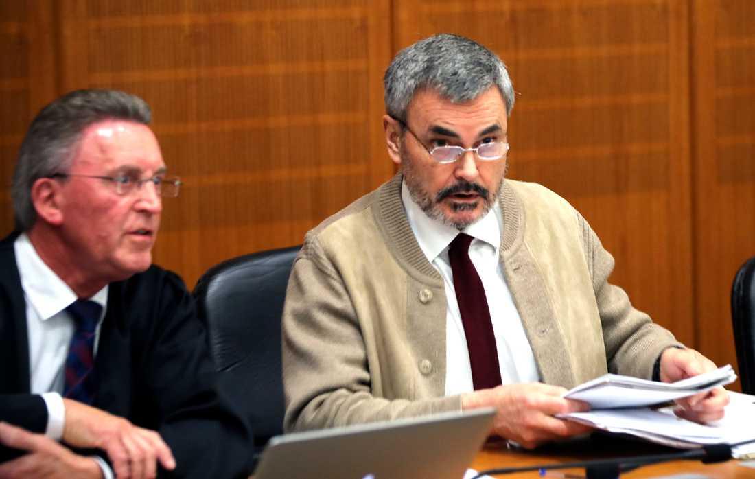 John Ausonius i rättssalen i Tyskland.