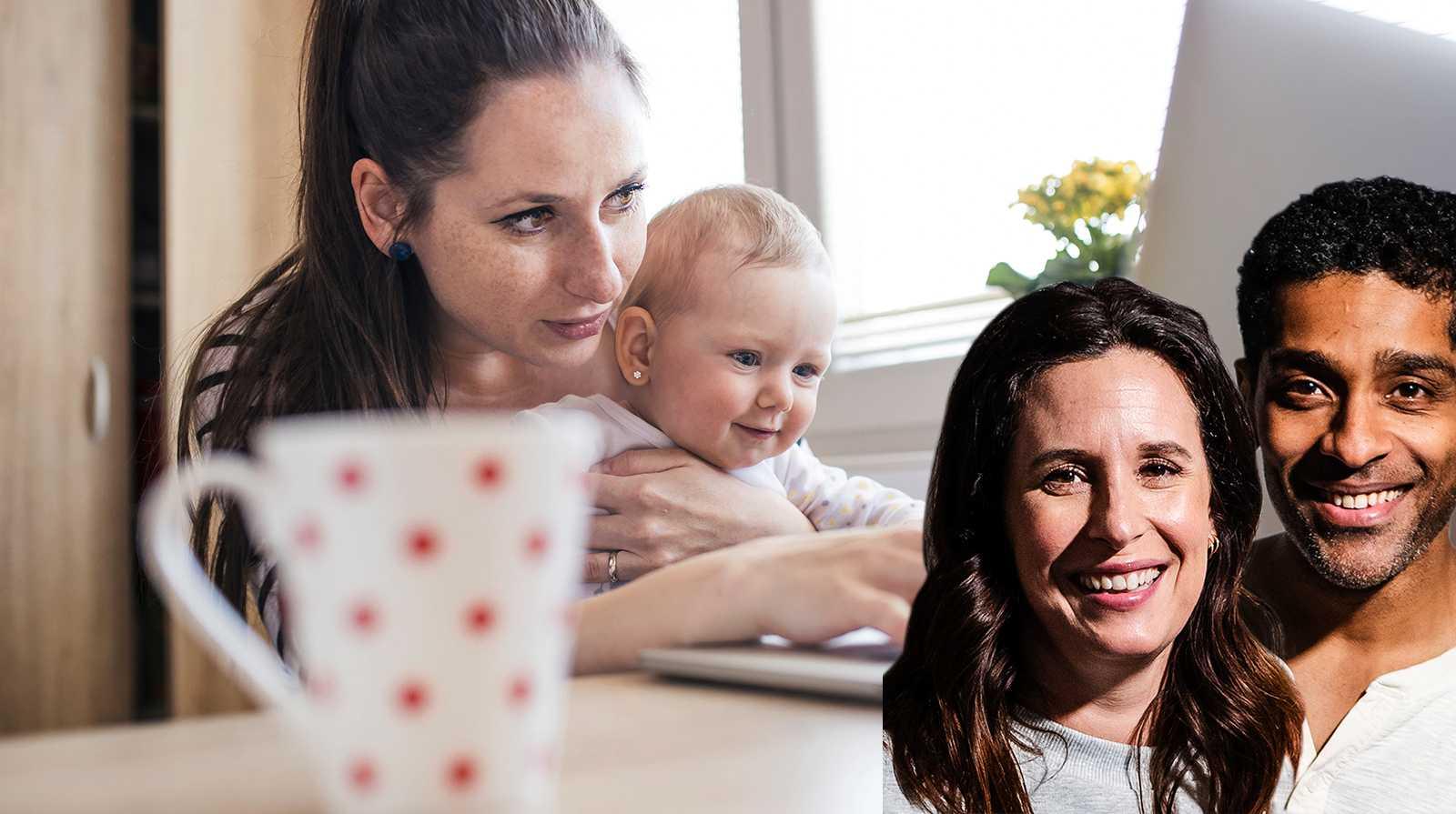 Paret Karim skriver om hur jobbigt det är att jobba hemma med barn.