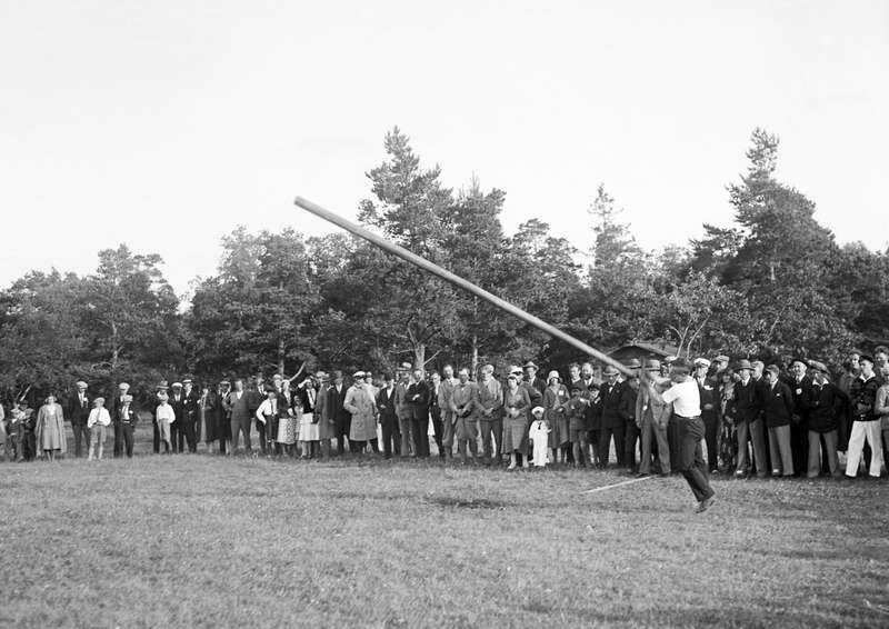 Stångstörtning på Gotland 1931.