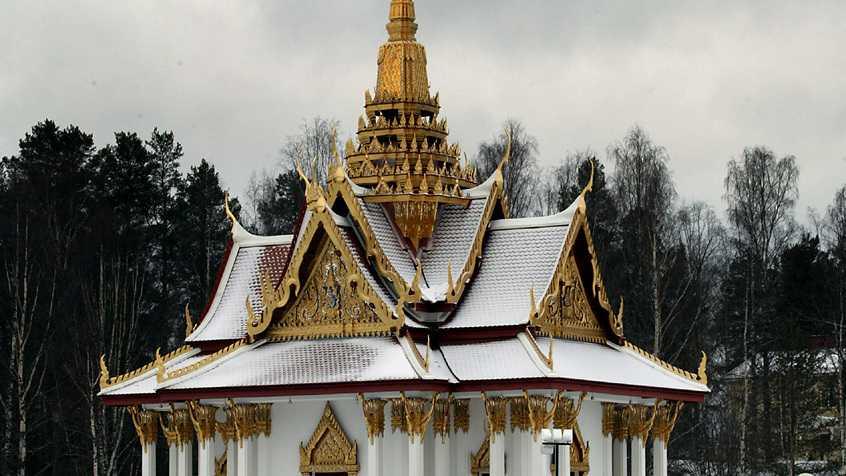 Den thailändska paviljongen i Utanede utanför Bispgården i Ragunda kommun. Arkivbild.