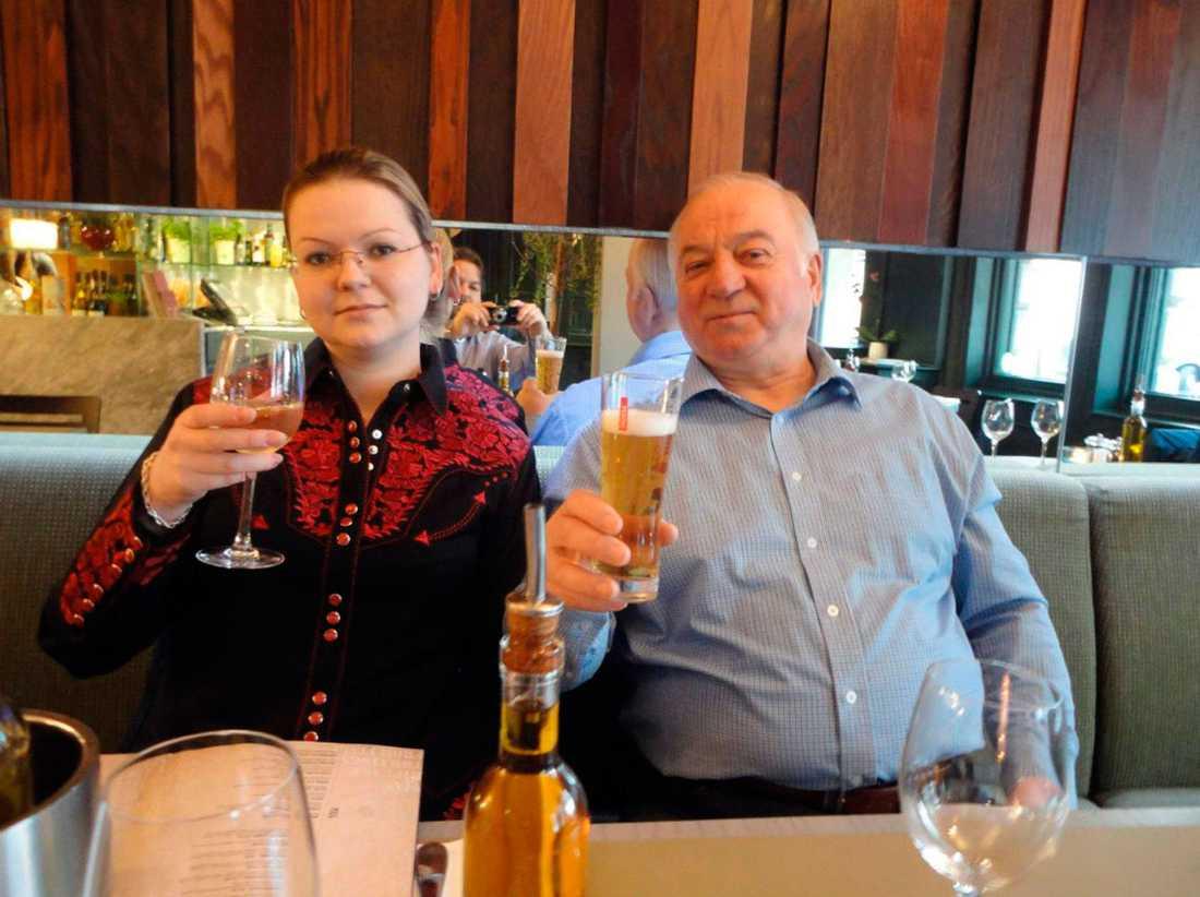 Julia Skripal och hennes far, dubbelagenten Sergej Skripal.