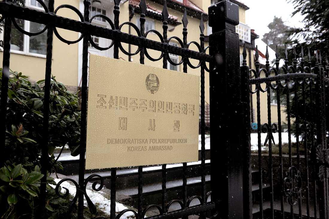 Nordkoreas ambassad på Lidingö.