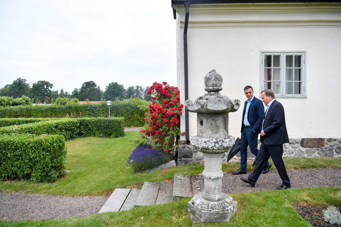 Spaniens premiärminister Pedro Sánchez besöker statsminister Stefan Löfven för överläggningar om EU-frågor på Harpsund.