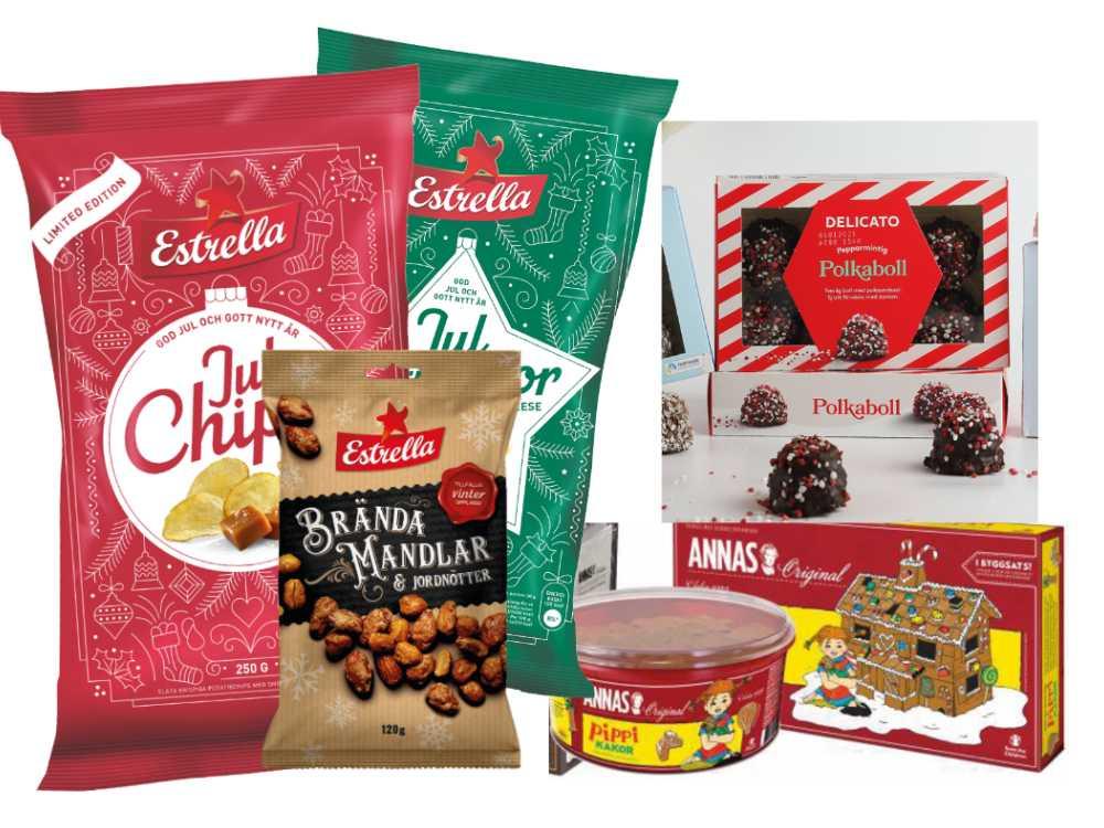 Chips och kakor bland årets julnyheter.
