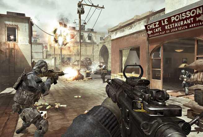 Ungdomarna spelade krigsspelet Call of Duty då polisen stormade in i lägenheten.