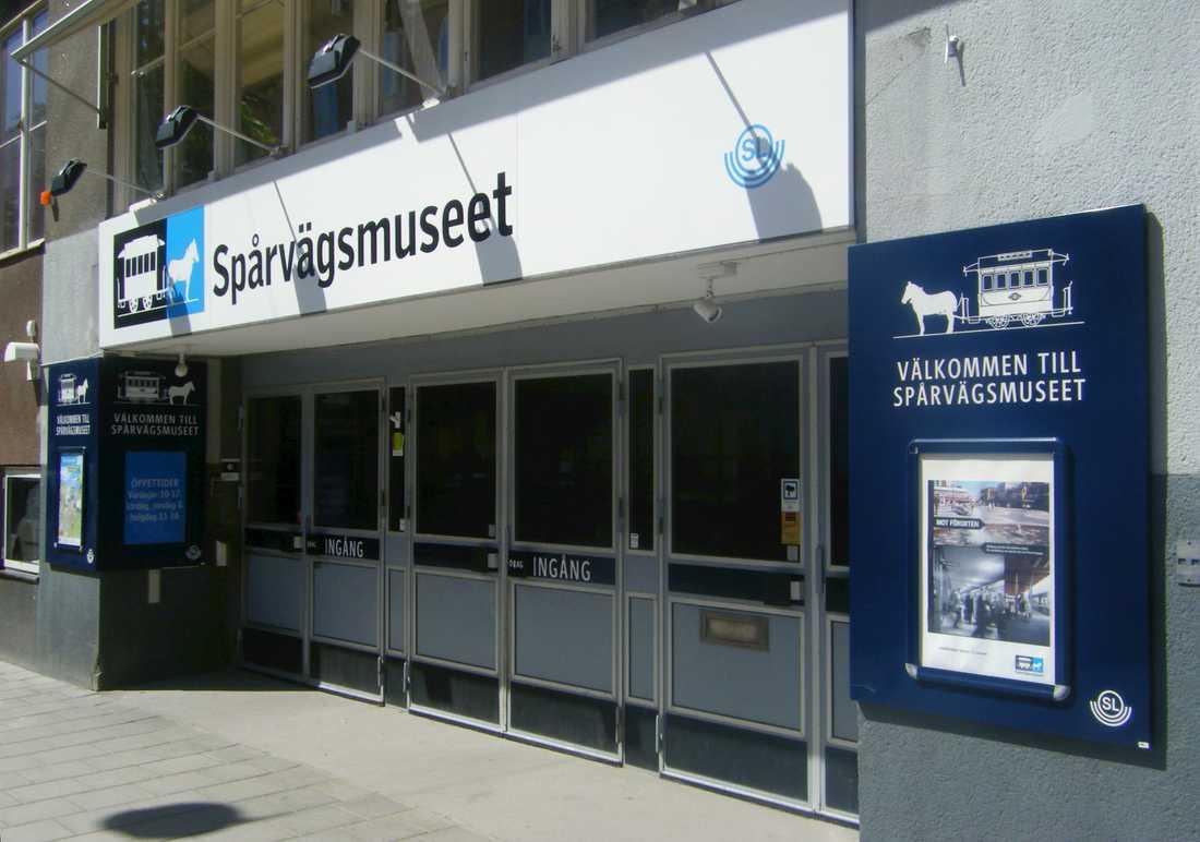Spårvagnasmuséets gamla entré i Stockholm.