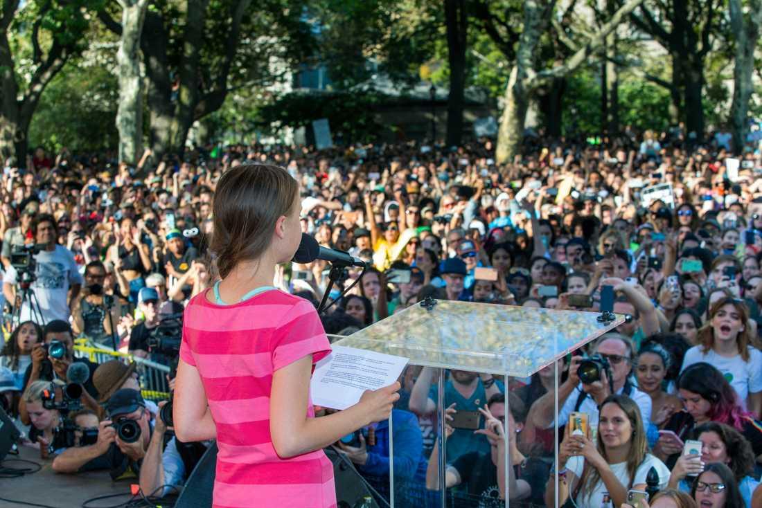 Alla elever i New Yorks kommunala skolor hade fått giltig frånvaro för att delta i strejken.