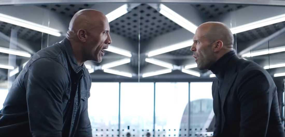 "Dwayne Johnson och Jason Statham i ""Hobbs & Shaw""."