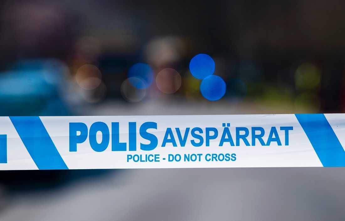 Polisen har skjutit en aggressiv knivman i Karlstads kommun. Arkivbild.