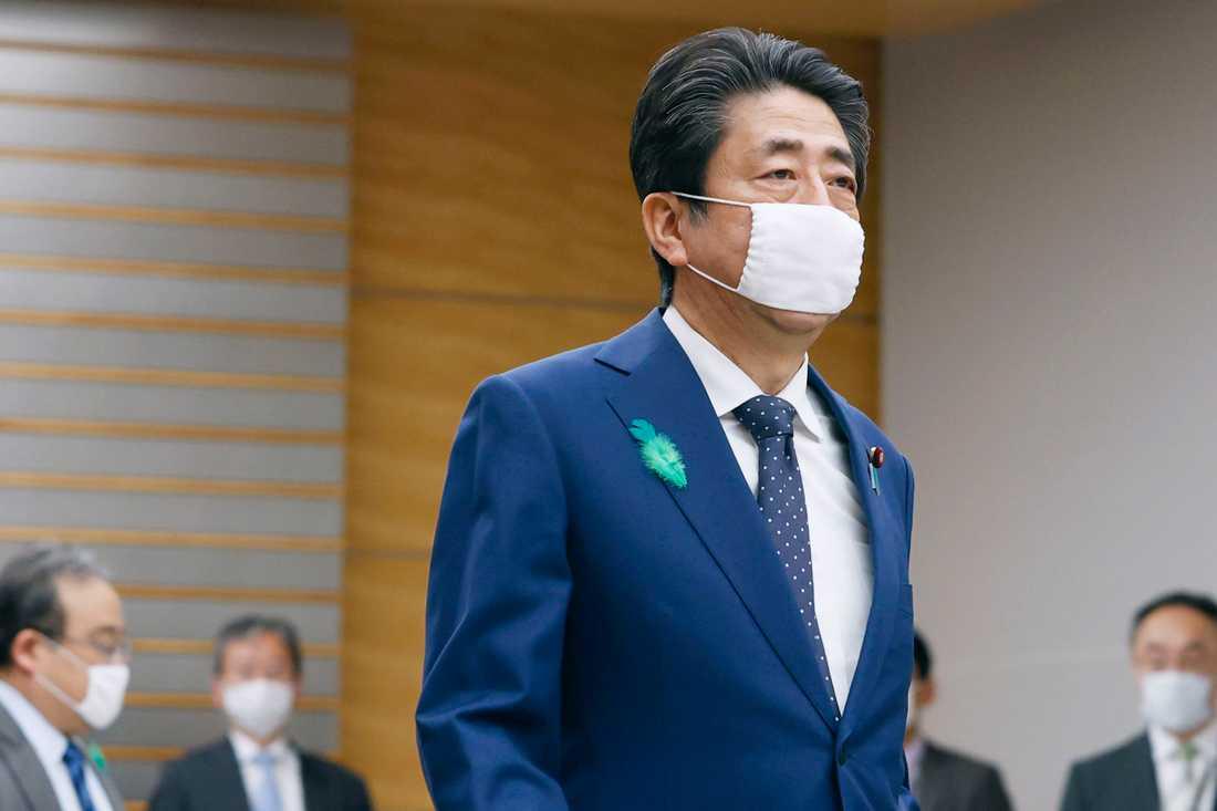 Japans premiärminister Shinzo Abe vid ett möte i huvudstaden Tokyo på torsdagen.
