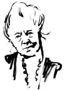 Selma Lagerlöf 1858–1940. Illustration: HANNA WIESLANDER
