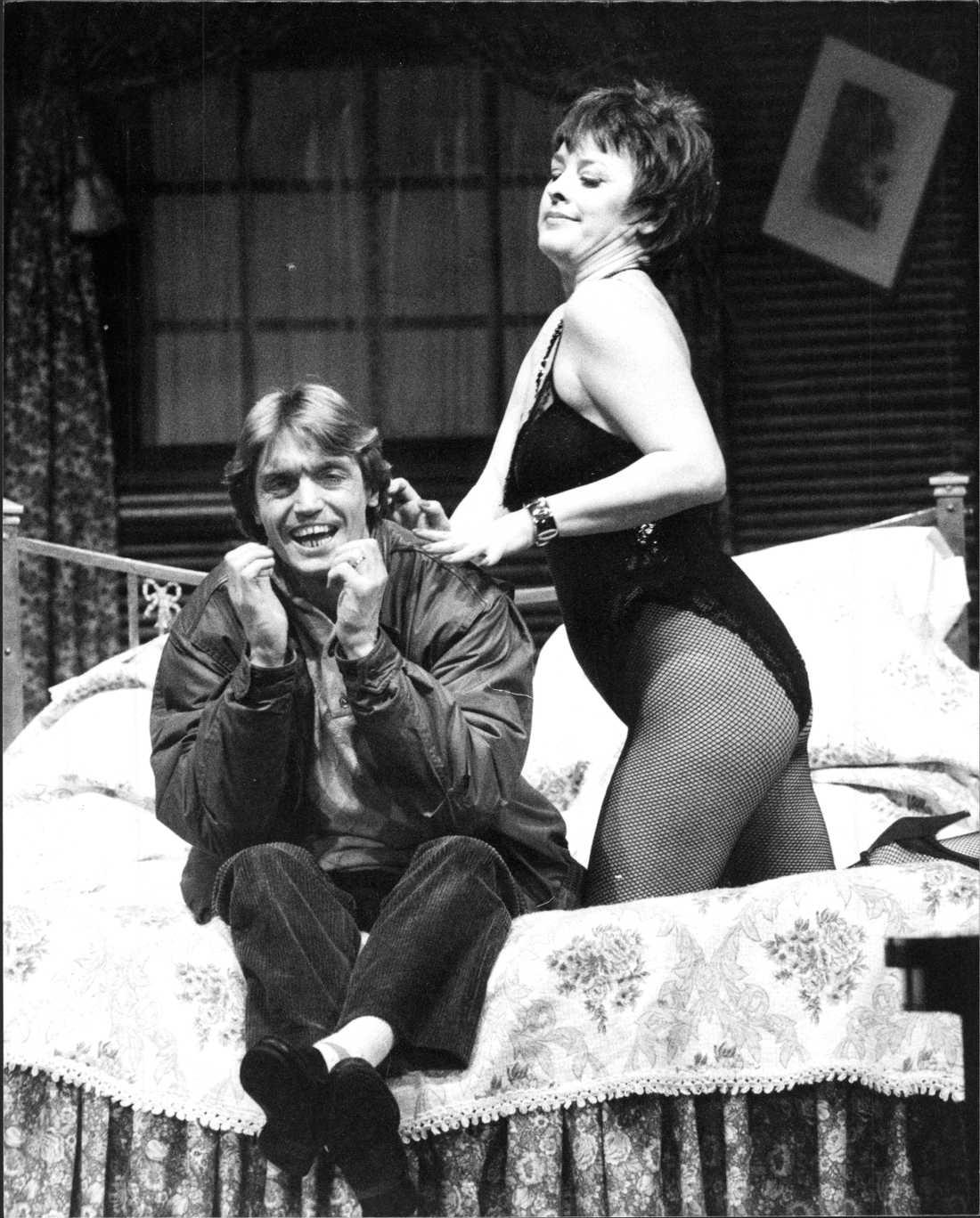 Johannes Brost med Eva Bysing 1984