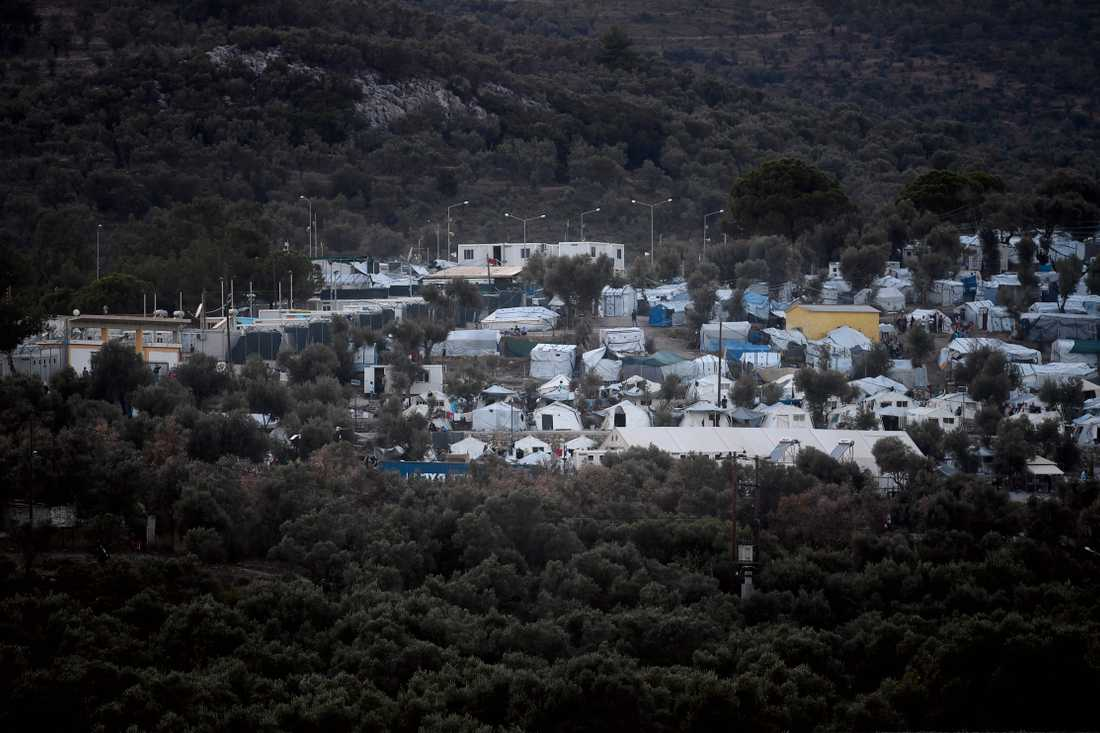 Flyktinglägret Moria på Lesbos