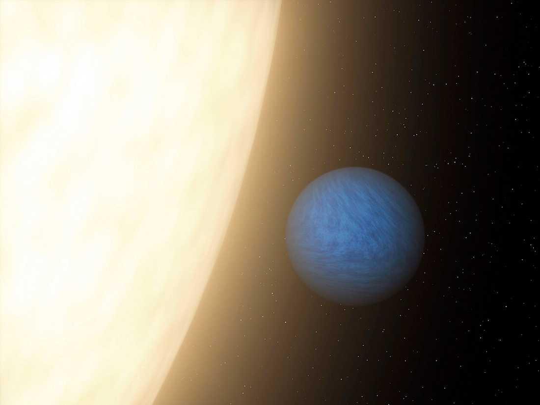 Diamantplaneten kretsar kring en stjärna som är synlig med blotta ögat.