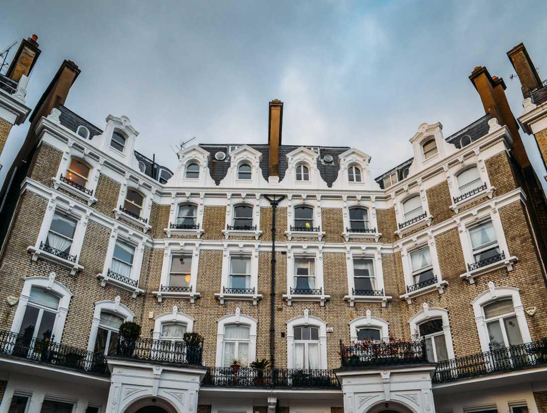Ett typiskt South Kensington-hus.