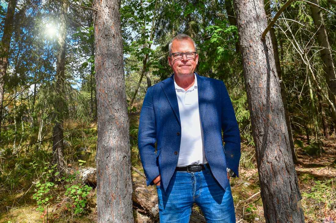 Förbundskaptenen Janne Andersson fotograferad på Bosön.