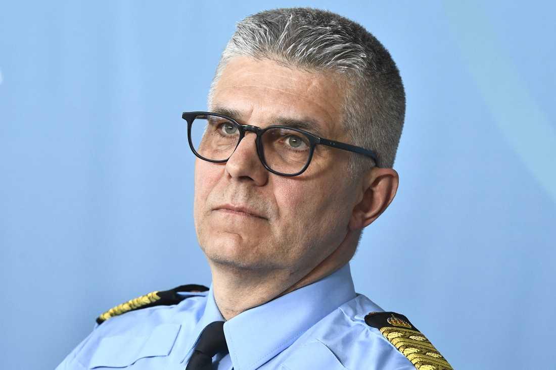 – Det finns en diskussion om att hela landet ska vara säkert, att man inte ska kunna köpa sig till en säkerhet, för det är polisen i grunden som ska stå för det, säger rikspolischef Anders Thornberg.