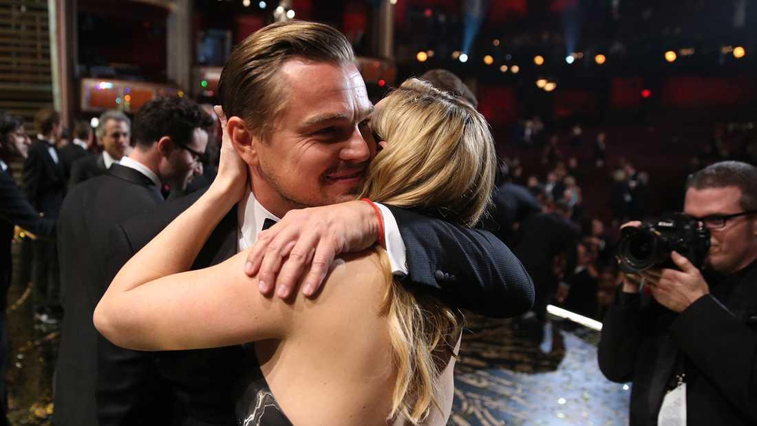 Leonardo DiCaprio och Kate Winslet på Oscarsgalan 2016.
