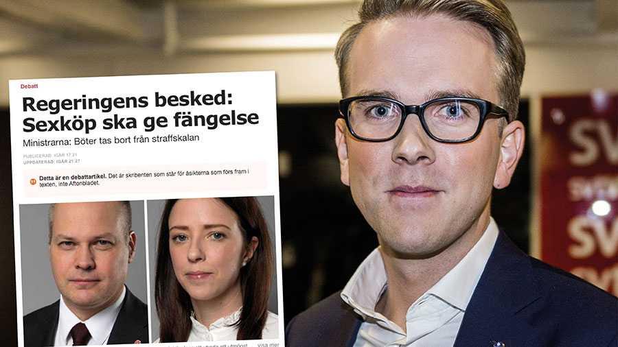 Det är beklagligt att justitieministern och jämställdhetsministern verkar mer angelägna att kritisera KD än att hjälpa de tiotusentals människor, både kvinnor och barn, som varje år faller offer för sexhandel, skriver Andreas Carlson.