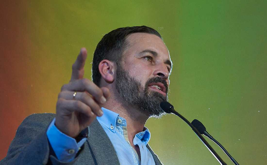 Santiago Abascal leder det högerextrema partiet Vox. Arkivbild.