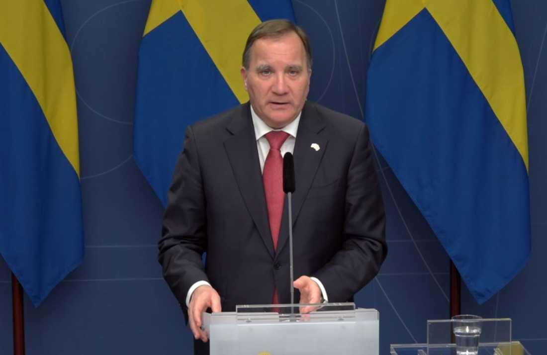 Statsminister Stefan Löfven (S) ska tala till nationen. Arkivbild.