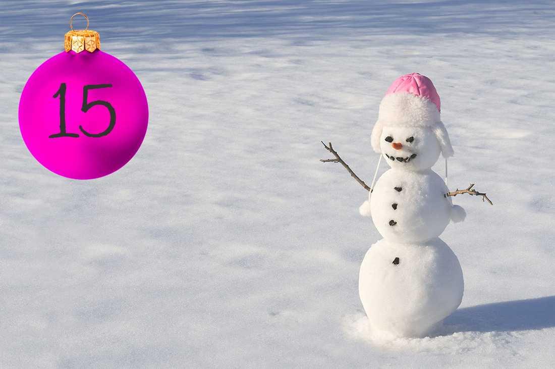 Kristinas tips: Gör en snögumma!  Finns det ingen snö ute så går det bra att göra snögummor inne av bomull, toalettpappersrullar, flörtkulor och pärlor.