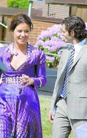 Prins Carl Philip och Emma Pernald kom tillsammans till dopet – som vänner.