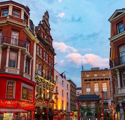 Soho i London.