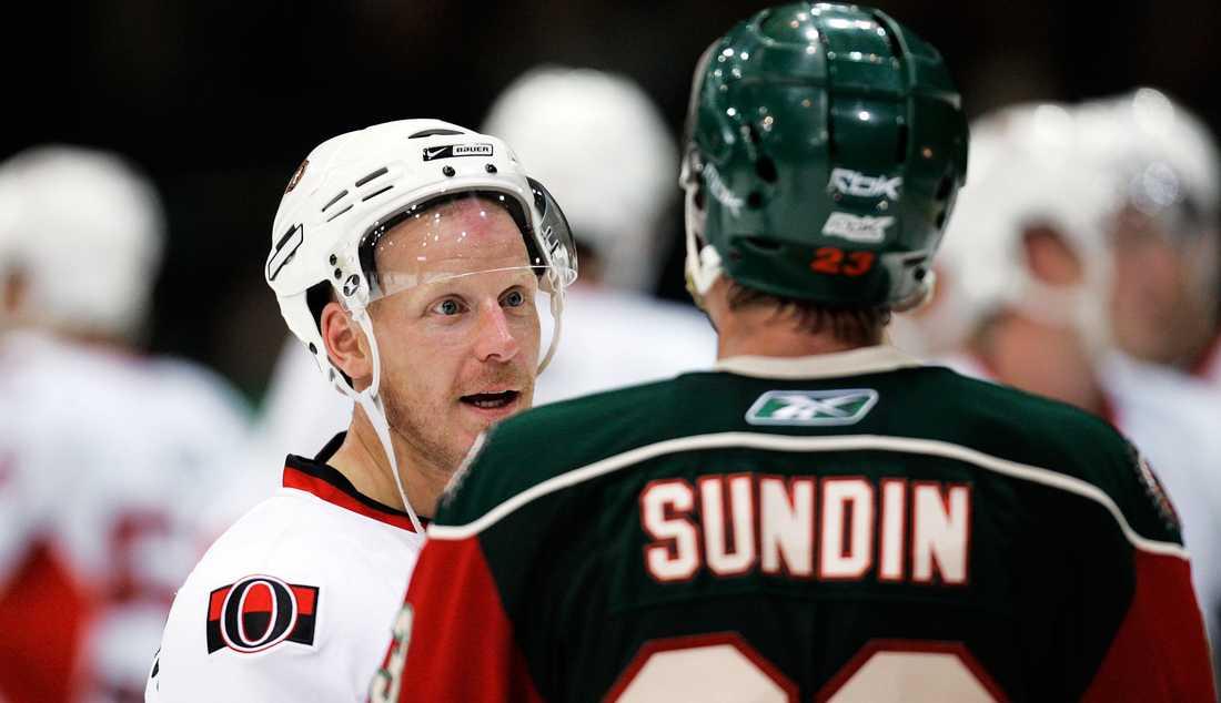Daniel Alfredssons Ottawa mötte Frölunda i en träningsmatch.