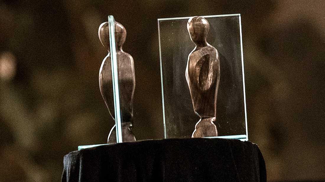 Pristagarna fick, förutom pengar, en skulptur formgiven av Michael Nyqvists dotter Ellen.