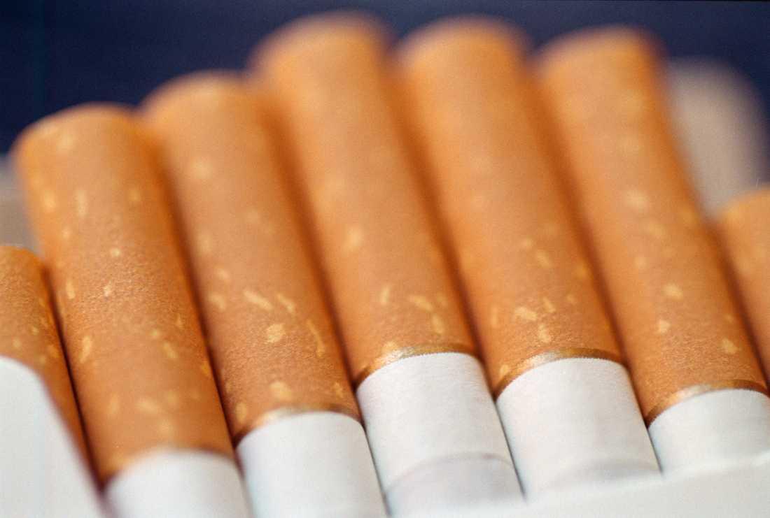 Bilden var på en varningsetikett för cigaretter.